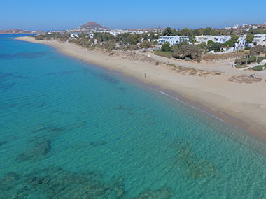 beautiful cyclades beach naxos greece