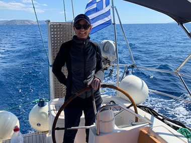 our lovely guest sailing the greek islands