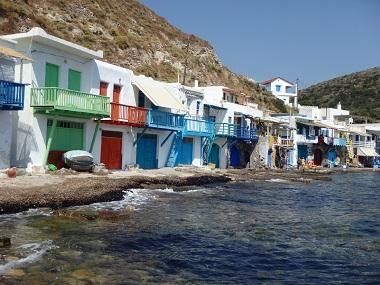 the greek island of milos cyclades