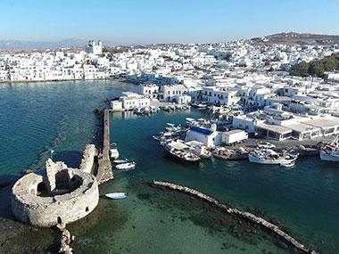 sailing with skipper cyclades greek islands paros