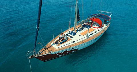 skippered sailboat Cyclades Greek islands