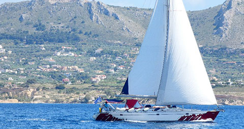 sailing the Cyclades with skipper