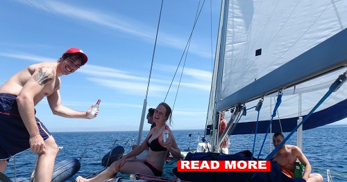 sailing with skipper in the cyclades greek islands