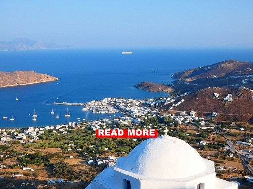 Greek islands with skipper in the cyclades