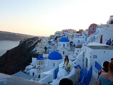 Santorini Cyclades skipper Greek islands